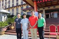 红衣:毛玉成(省武管中心书记) 蓝衣:李国平(全球功夫网河南站站长) 绿衣:刘彦同(武英级运动员)